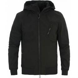 Belstaff Rockford Stretch Shell Hooded Jacket Black