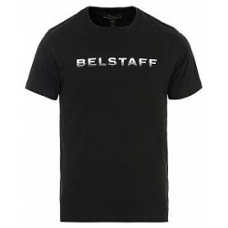 Belstaff Sandgate Crew Neck Logo Tee Black