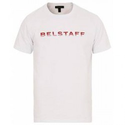 Belstaff Sandgate Crew Neck Logo Tee White
