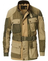 Belstaff Trialmaster Dry Waxed Canvas Patchwork Jacket Green men 50 Grøn