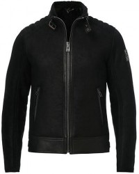 Belstaff Westlake 2.0 Sherling leather Jacket Black men 50 Sort