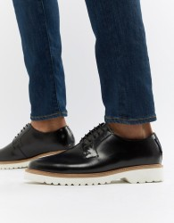 Ben Sherman High Shine Lace Up Shoes In Black Leather - Black
