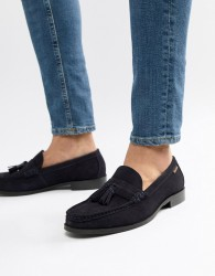 Ben Sherman Loafers Tassel Loafers In Navy Suede - Blue
