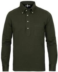 Berg&Berg Conrad Button Down Poloshirt Olive men XS Grøn