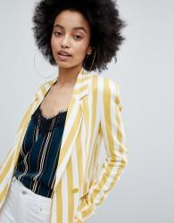 Bershka bold blazer in multi stripe - Multi