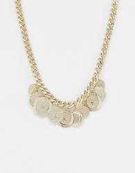 Bershka coin necklace - Gold