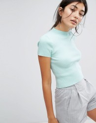 Berskha High Neck Crop Top - Green