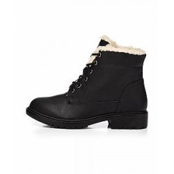 Bianco Laced up warm boot (SORT, 40)