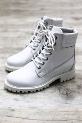 Bianco - Sko - April Worker Boot - White