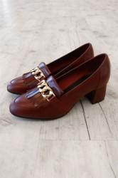 Bianco - Sko - Fringe Dress Loafer - Winered