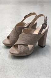 Bianco - Sko - Platform Sandal - Powder