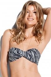 Bikinitop Bandeau Zebra