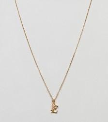 Bill Skinner Floral E Initial Pendant - Gold
