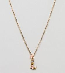Bill Skinner Floral L Initial Pendant - Gold