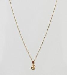 Bill Skinner Floral S Initial Pendant - Gold