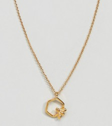 Bill Skinner Gold Plated Hexagon Bee Pendant Necklace - Gold