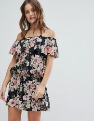 Billabong Off-Shoulder beach Dress - Multi