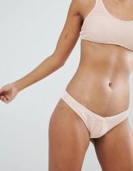 Billabong Ribbed High Leg Bikini Bottom - Pink