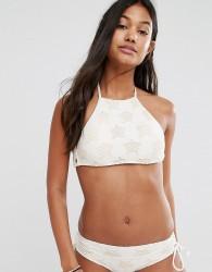 Billabong Star High Neck Bikini Top - White