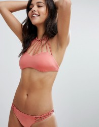 Billabong Strappy High Neck Bikini Top - Pink