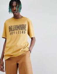 Billionaire Boys Club Leopard Print Arch Logo T-Shirt In Gold - Yellow