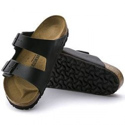 Birkenstock Arizona Birkoflor Soft Footbed - Black - Normal42