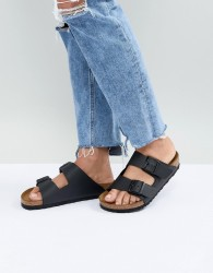 Birkenstock Arizona Black Flat Sandals - Black