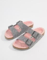 Birkenstock Arizona Flat Sandals - Grey