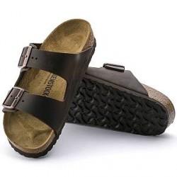 Birkenstock Arizona leather - Darkbrown - Normal45