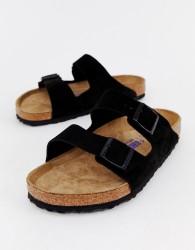 Birkenstock Arizona sandals in black suede - Black