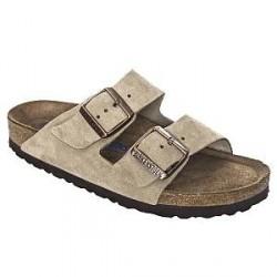 Birkenstock Arizona Suede Leather Soft Footbed - Beige * Kampagne *