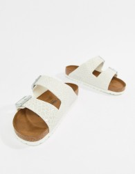 Birkenstock Arizona White Magic Print Flat Sandals - White