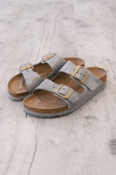 Birkenstock - Sandal - Arizona BS - Washed Metallic Blue Silver