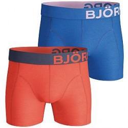 Björn Borg 2-pak Seasonal Solid Shorts - Blue/Orange * Kampagne *