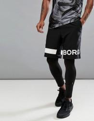 Bjorn Borg Performance Shorts With Logo - Black