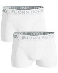 Björn Borg Undertøj Bjørn Borg 2-pak Hvide med Korte Ben B9999-1006 00011