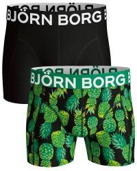 Björn Borg Undertøj Bjørn Borg 2-pak Sort/Grøn Ananas-Mønster med Standard Ben 1911-1262 90651