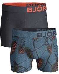 Björn Borg Undertøj Björn Borg 2-pak Blå og Sort med Mønster Shorts (Standard) 1731-1122 70291