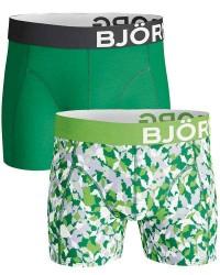 Björn Borg Undertøj Björn Borg 2-pak Grønne Design Shorts (Lange ben) 1821-1084 80941