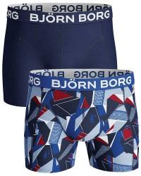 Björn Borg Undertøj Björn Borg 2-pak mørkeblå og Mønsterede Shorts (Standard/lange) 1831 1604 71171
