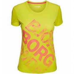 Björn Borg WYNNIE SS Tee - Yellow - Small * Kampagne *