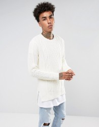Black Kaviar Jump In Off White With Cable Knit - White