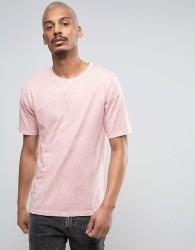Black Kaviar Oversized T-Shirt In Pink Acid Wash - Pink