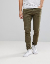 Black Kaviar Skinny Jeans In Khaki With Distressing - Green