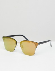 Black Phoenix Mirror Gold Lens Sunglasses - Gold