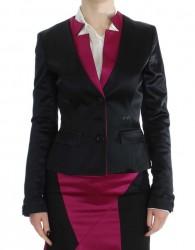 Black Pink Stretch Blazer Jacket