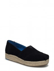 Black Suede Women Espadrile