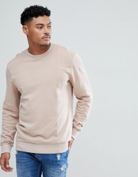 Blend Acid Wash Pink Sweatshirt - Pink