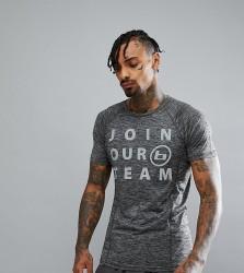Blend Active Slogan T-Shirt - Grey