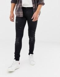 Blend biker super skinny jeans in black - Black